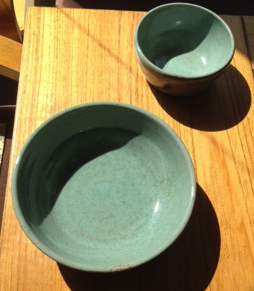 Bowl- Soup and Pasta, Sea Glass Green 7x