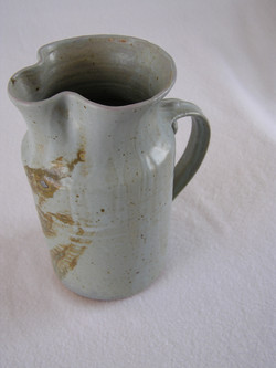 Pitcher- Lt Blue w Brown Accent 8x4 in (
