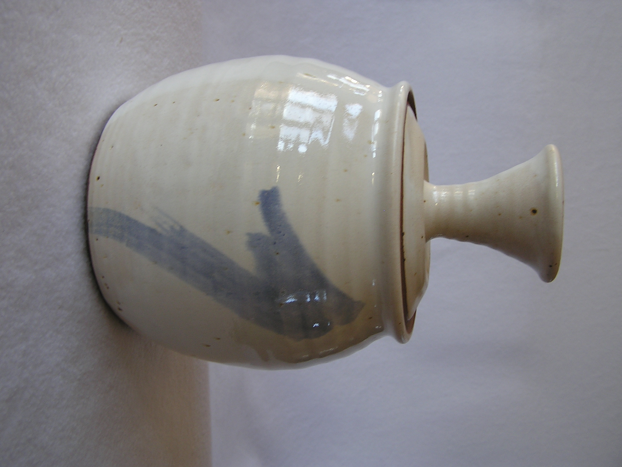 Canister- Alabaster w Pale Blue Accent 7