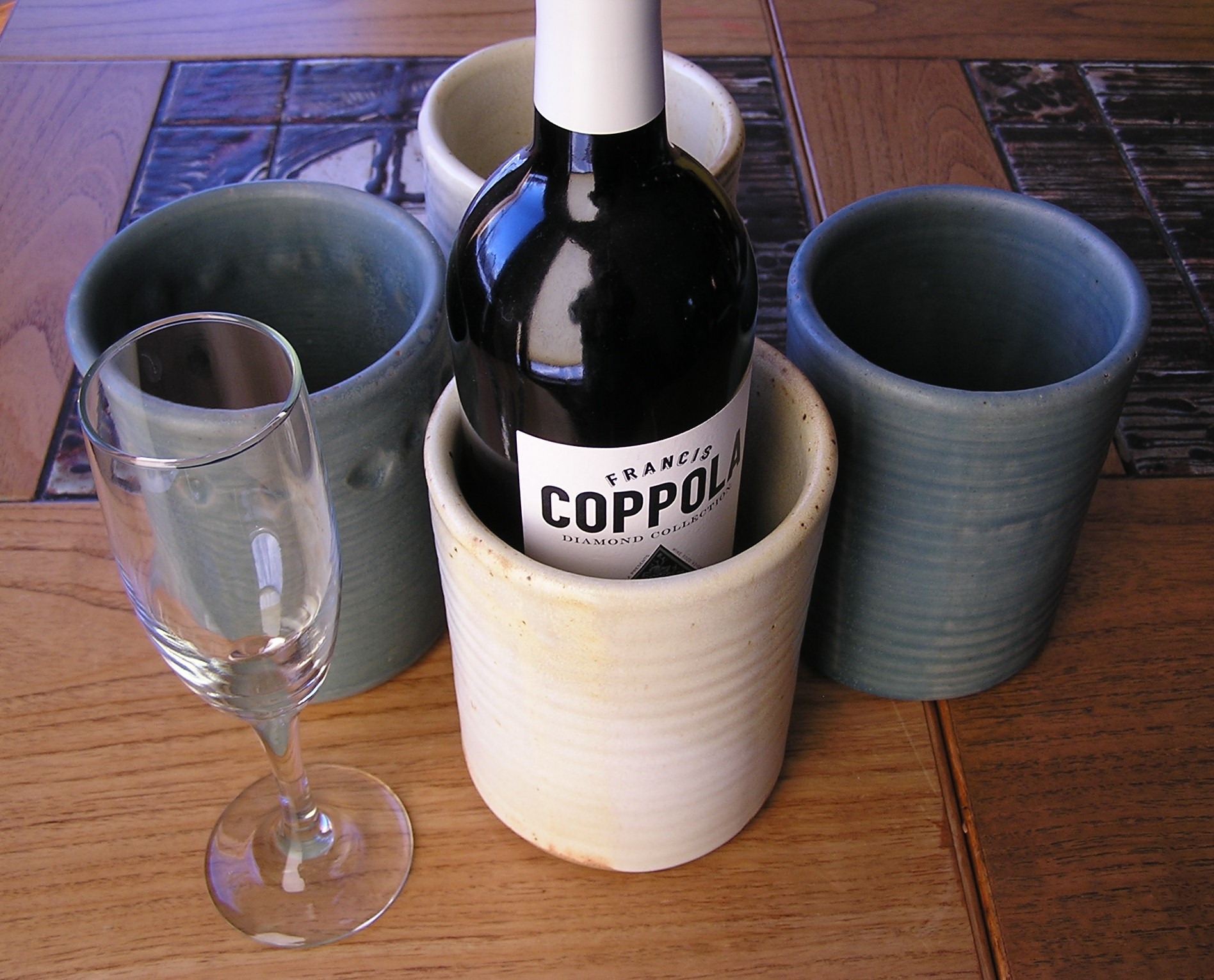 Wine Cylinder- Assorted Colors 6x4 in (N