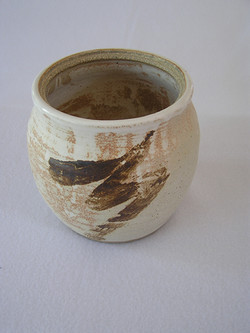 Planter- White-Rust w Brown Accent 6x5 i