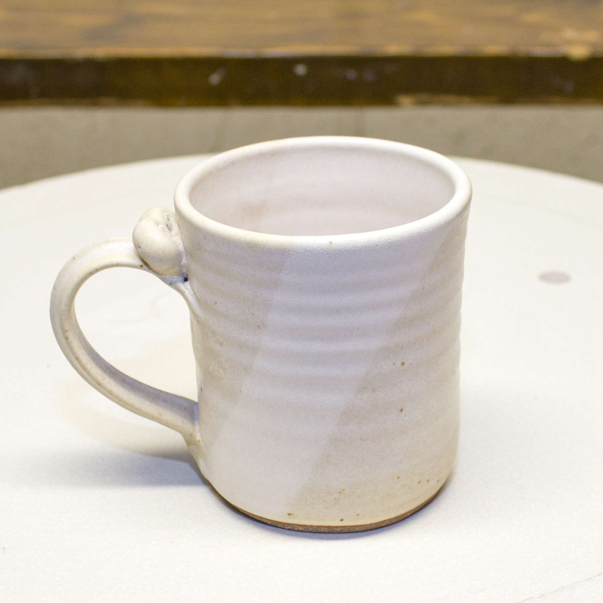 Mug- Orphan Pearl White 4x3 in ($9)