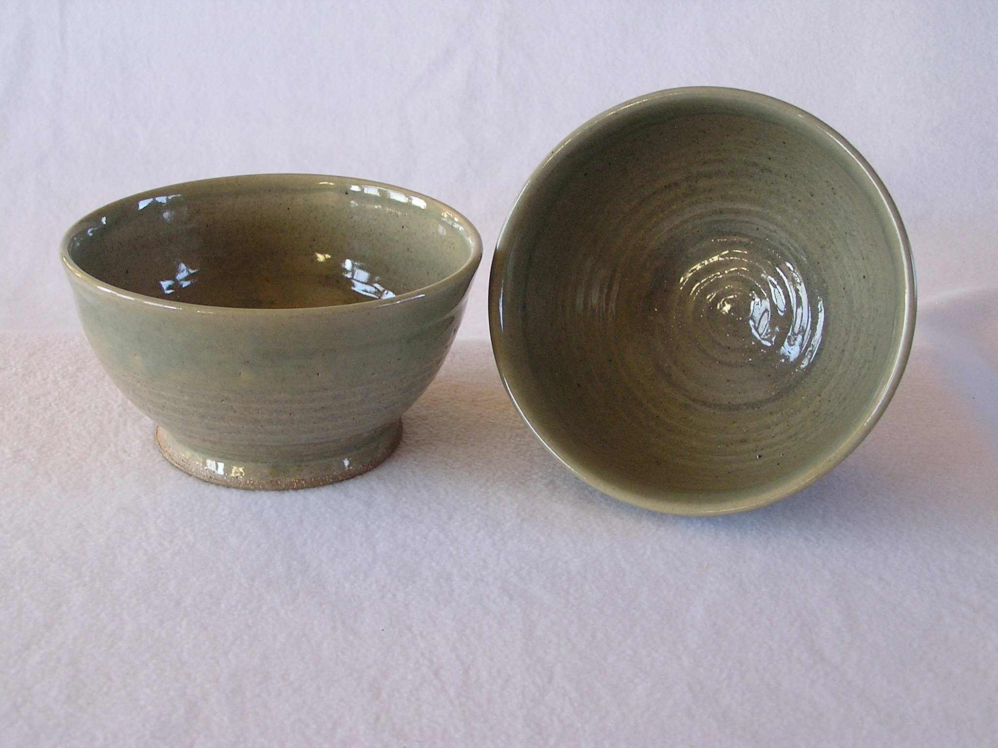 Bowl- Khaki w Blue Haze 4x7 in Set 2 (NF