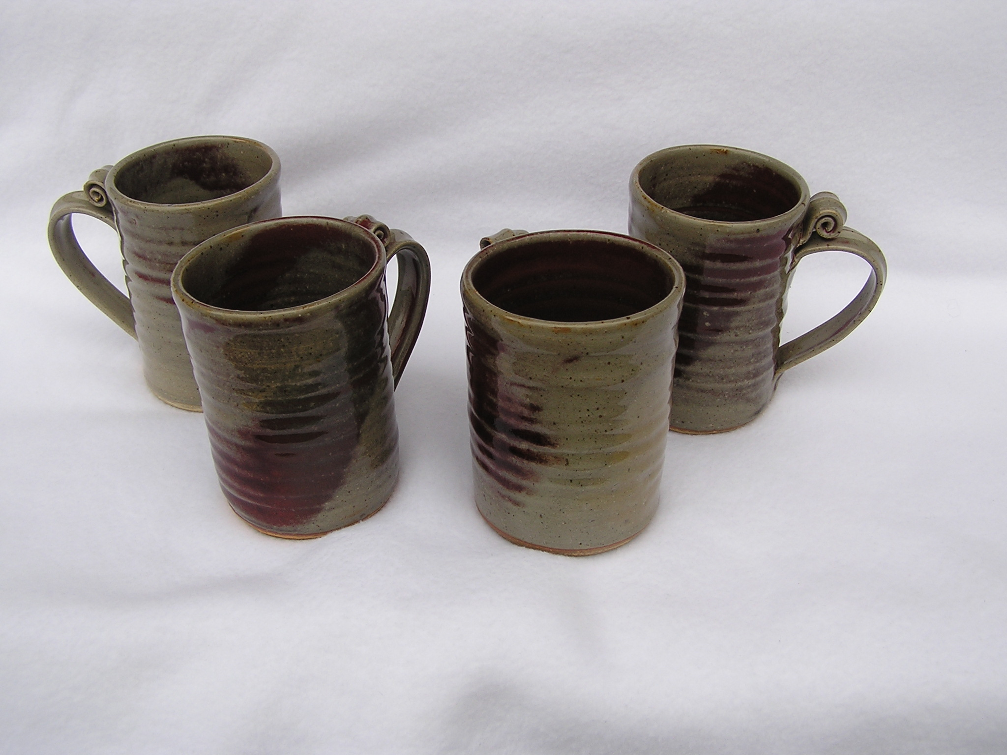 Mugs- Set 4 4x3 in Olive-Ruby (NFS) D842