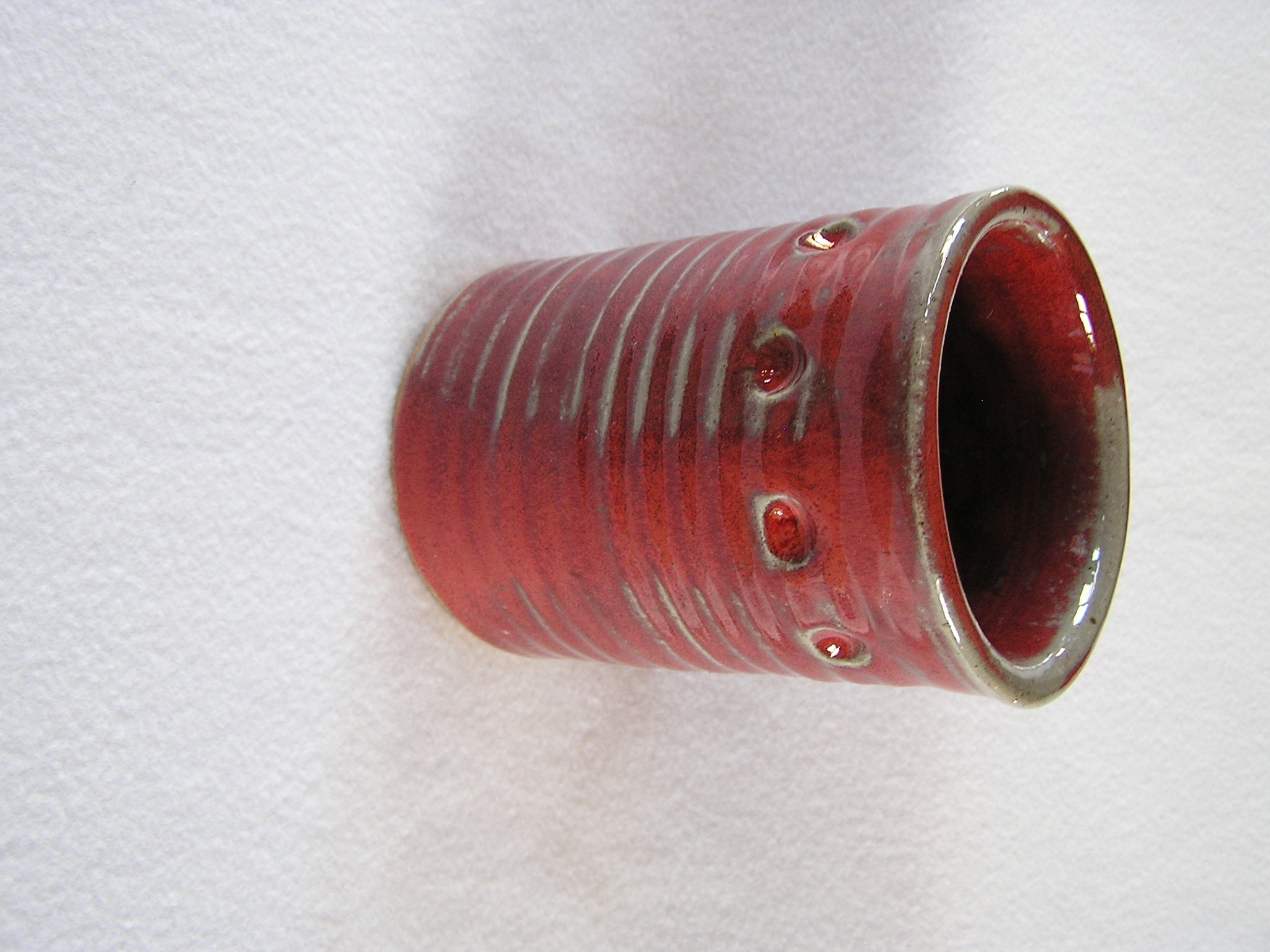 Wine Cylinder- 6 in  W025 Ruby-Olive w D