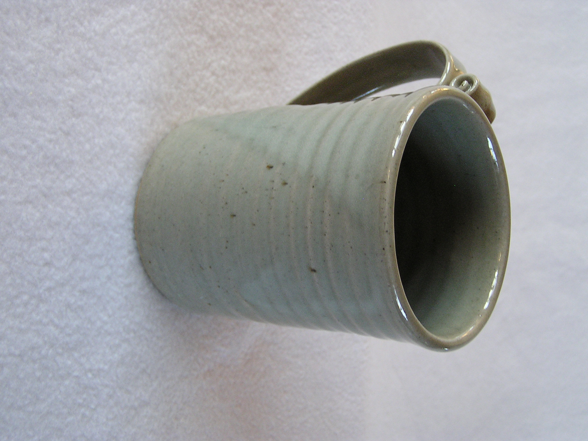 Mug- Orphan Dove Grey w Sea Foam Highlig