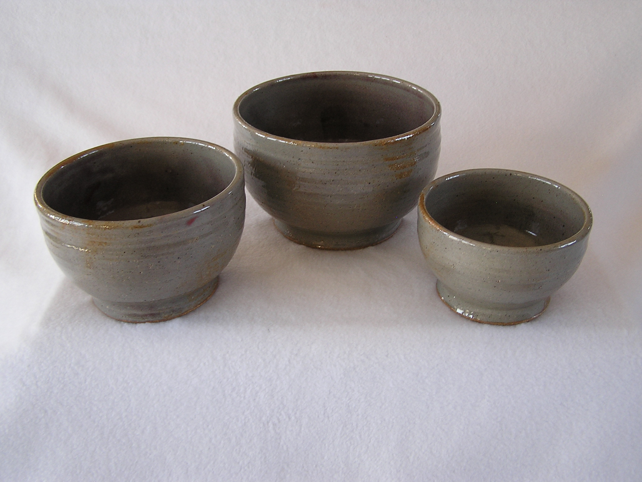 Bowl- Mixing, Set 3 Dove Grey (NFS)