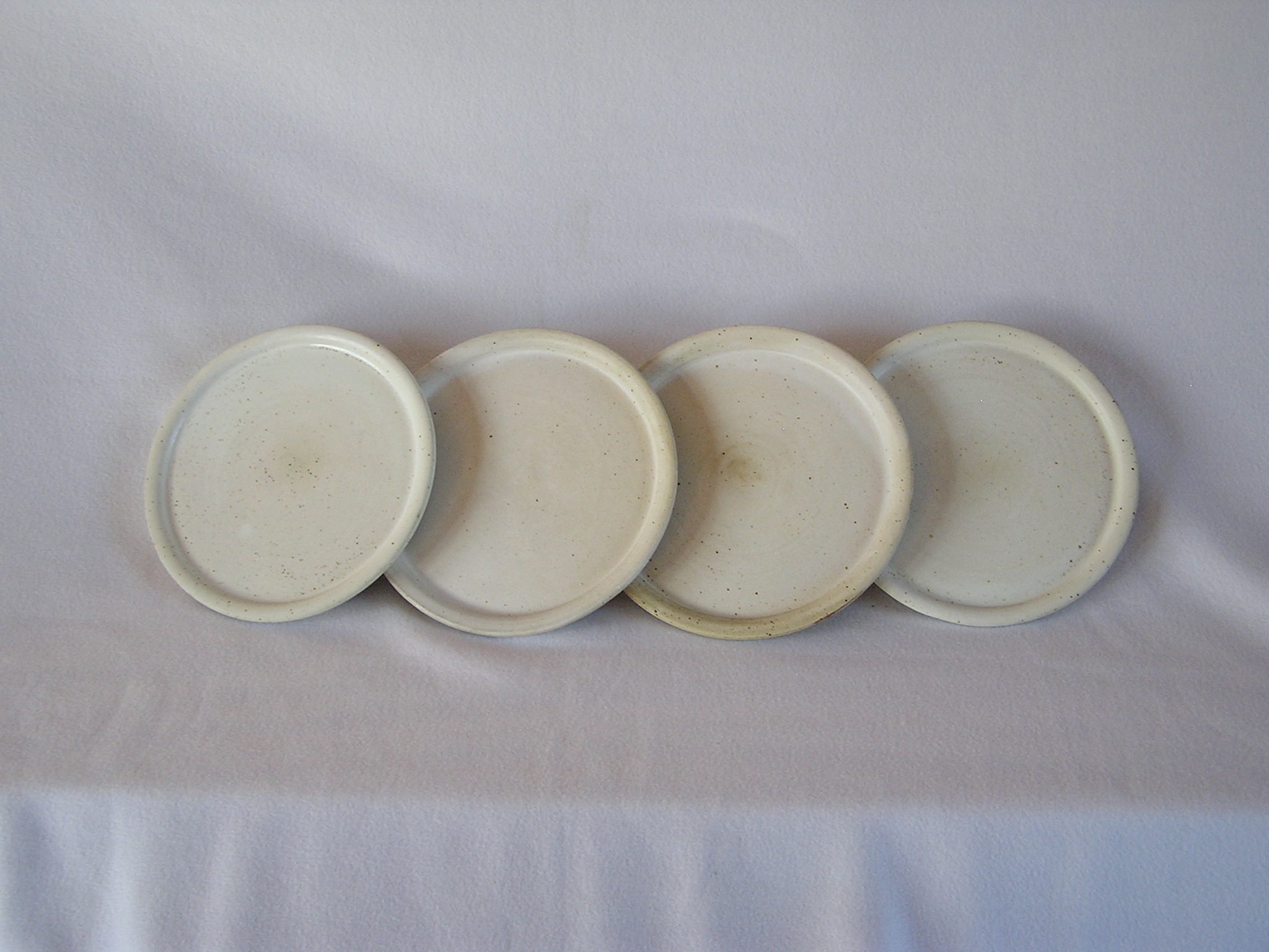 Plates- Set 4, Albaster 10in ($80) PL803