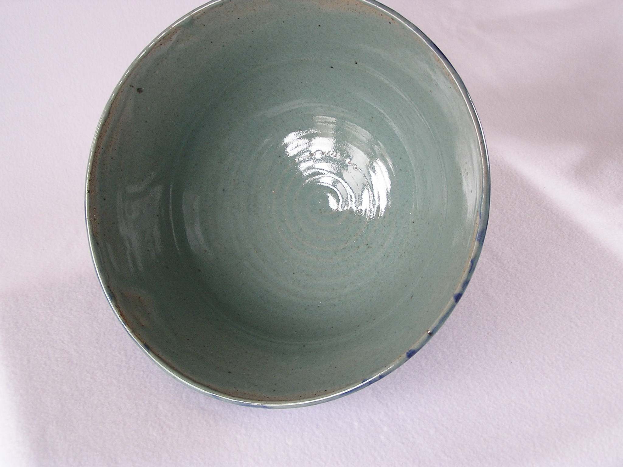 Bowl- Flared Rim, Sea Glass Green w Coba