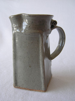 Pitcher- Rectangular, Grey 7x4 in (NFS).