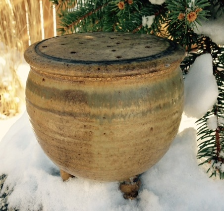 Canister- Kitchen Waste, Brown (NFS)