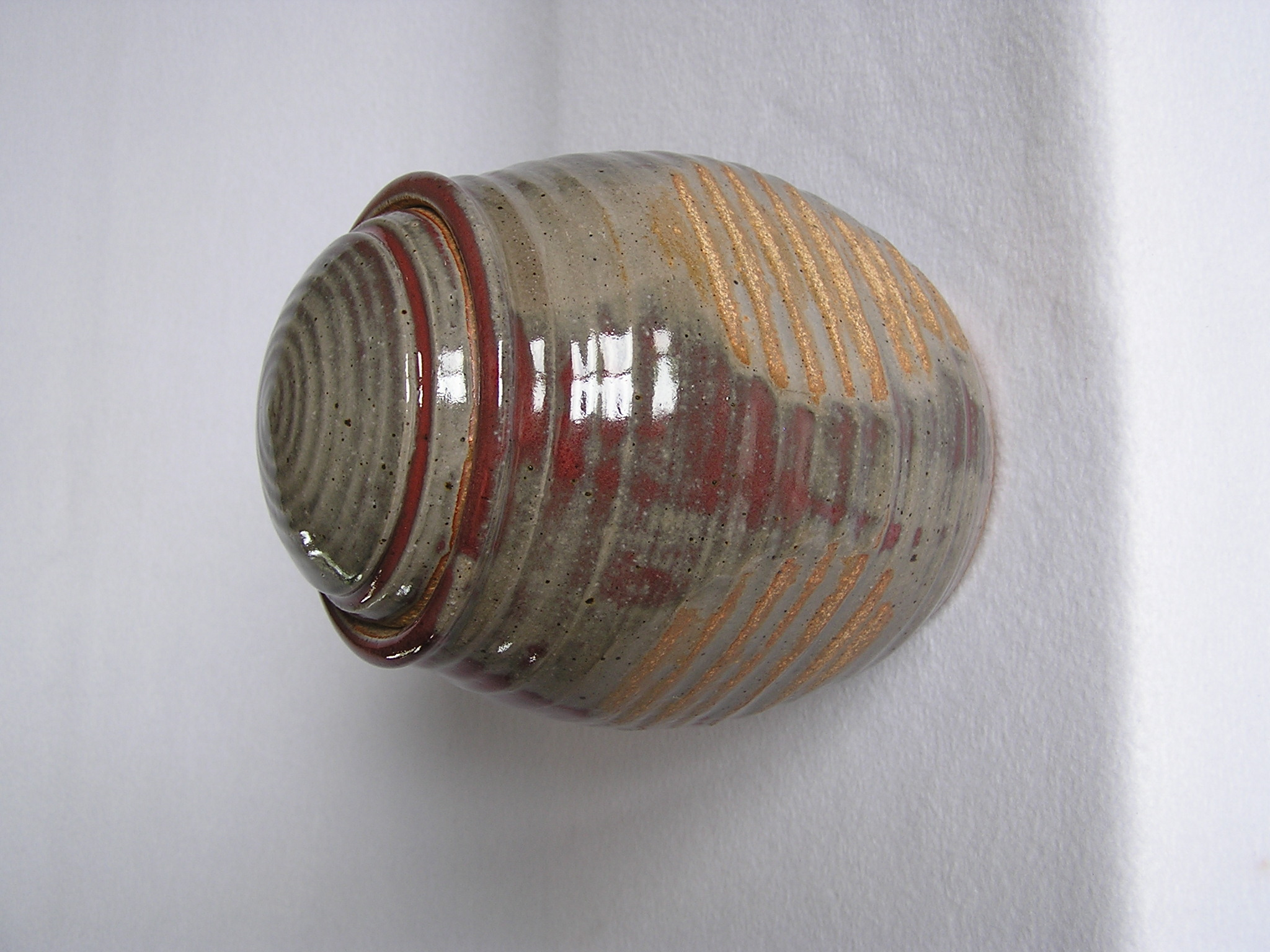 Canister- Ruby-Olive w Indent 6x7 in (NF