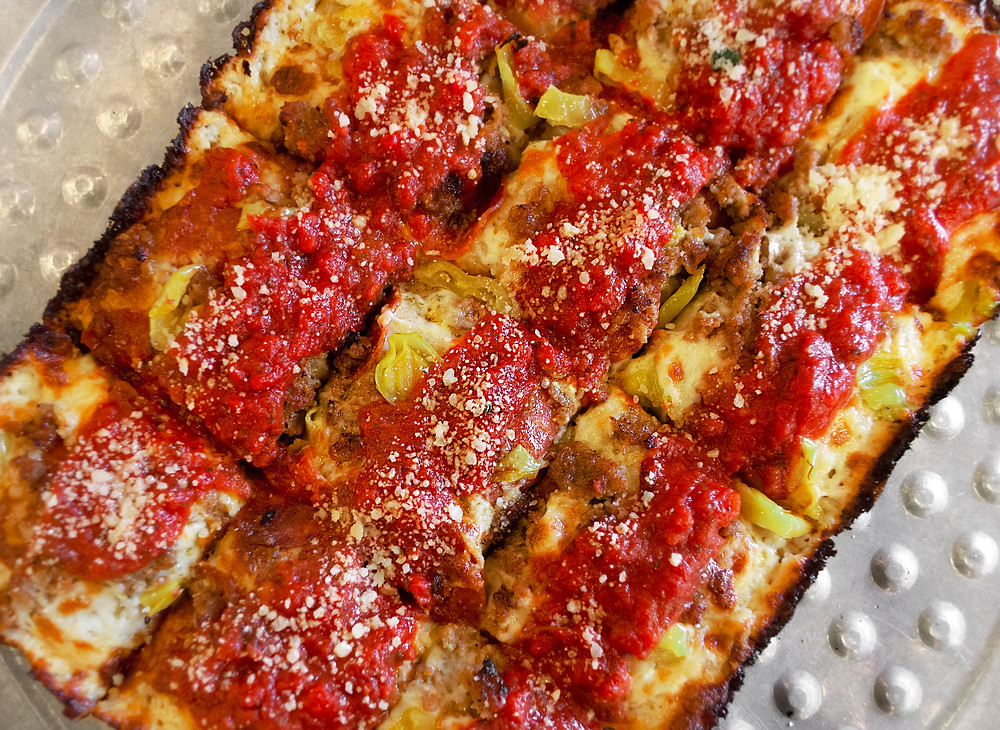 """""""Detroit Style"""" Pizza Available Now at Eddie's Claremont"""