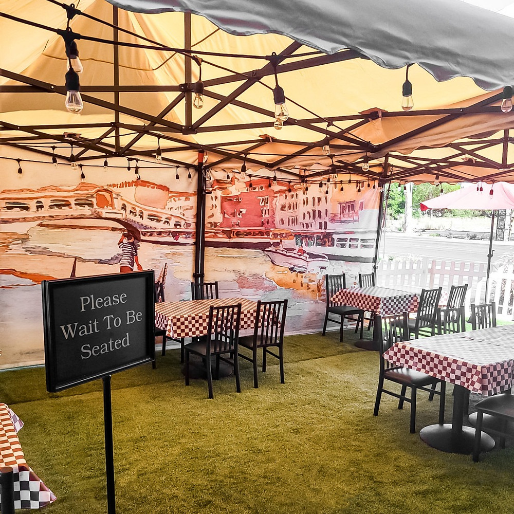 New Outdoor Dining at Eddie's