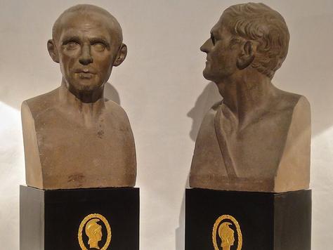 Antique Grand Tour Busts of Cicero & Demosthenes