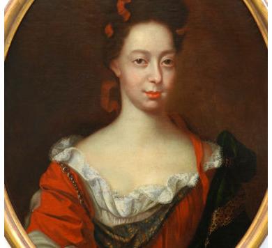 Louis XIV French Portrait of a Noblewoman Circa 1700