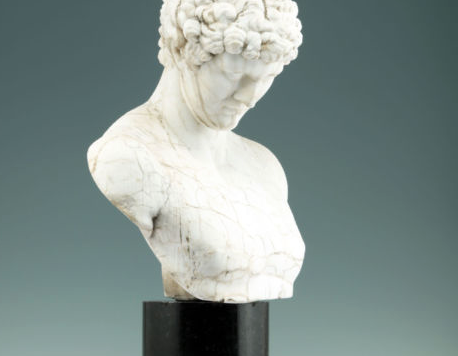 Neoclassical antique marble bust of Antinous