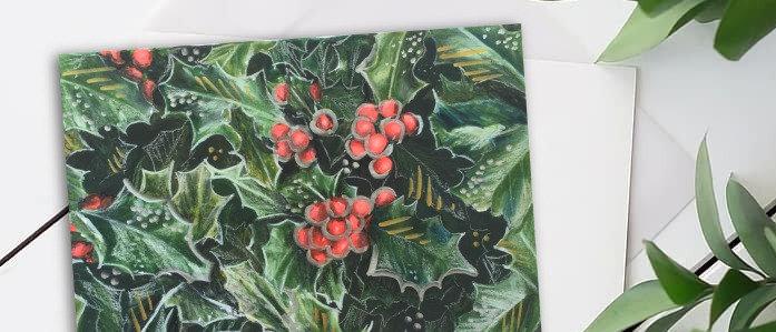 """Christmas card """"Holly"""""""