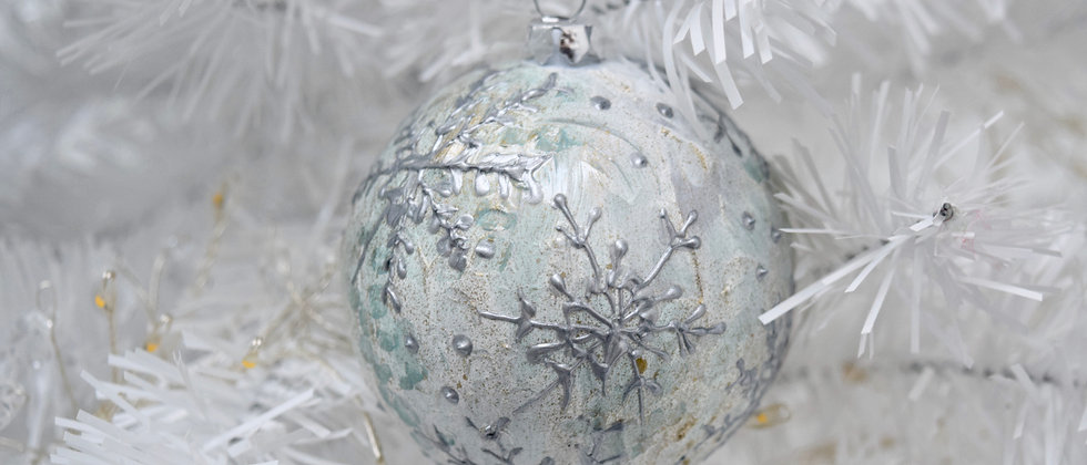 Painted Bauble - Snowflake design