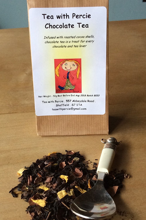 Chocolate Tea with Cocoa Shells and Sunflower Petals