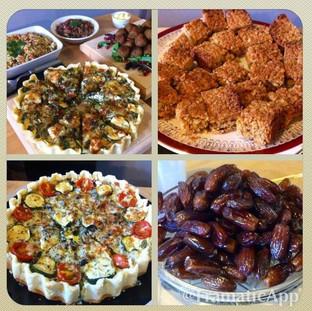 A Traditional Iftar - Muslim breakfast following the day's Fast at Ramadan
