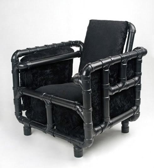Cadeira de tubos de PVC