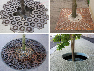 Ideia legal para aumentar a área de absorção das árvores em passeio ou quintal cimentado