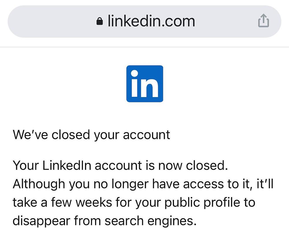 LinkedIn exit