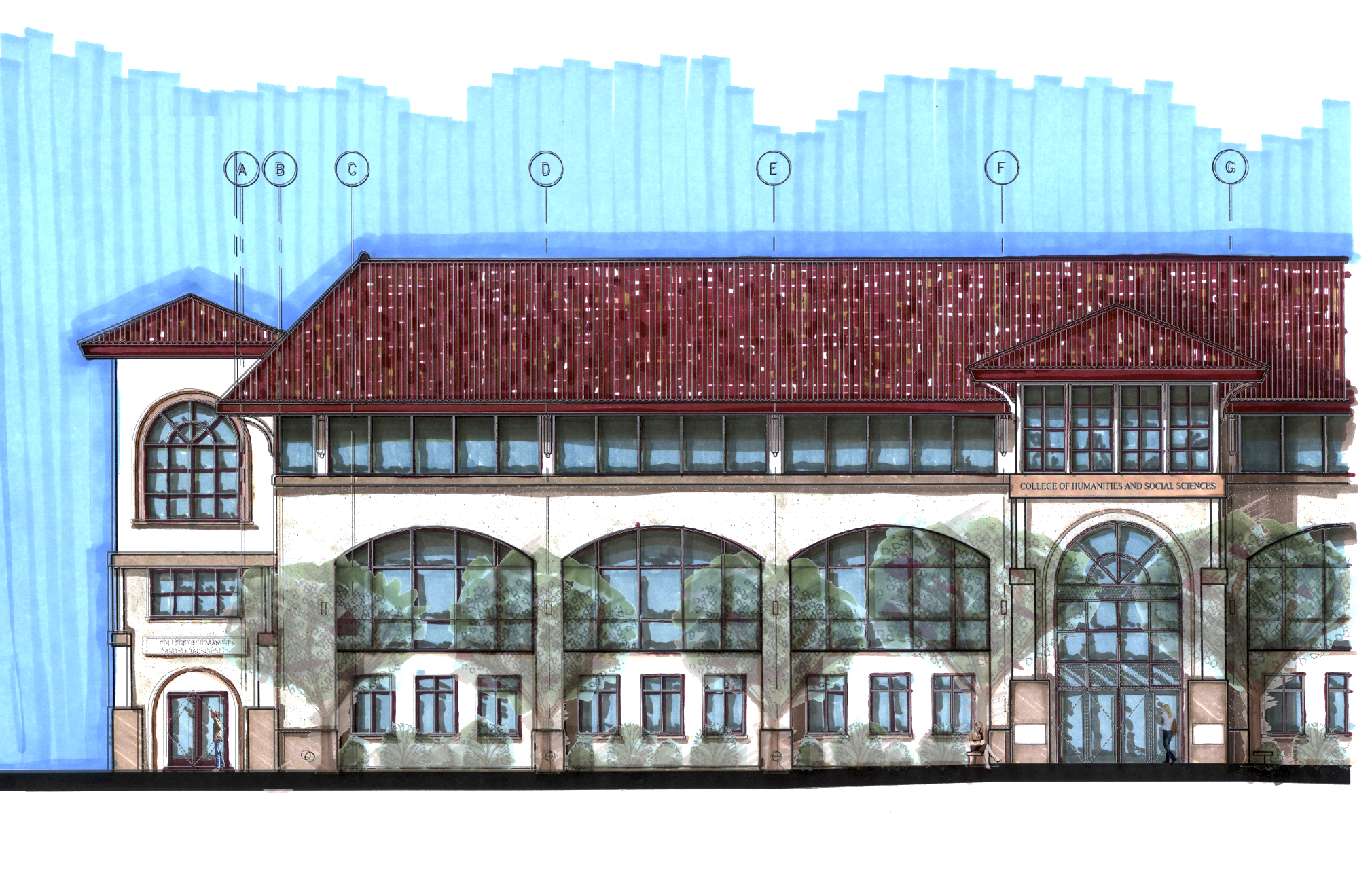 Schmitt Hall Rendering