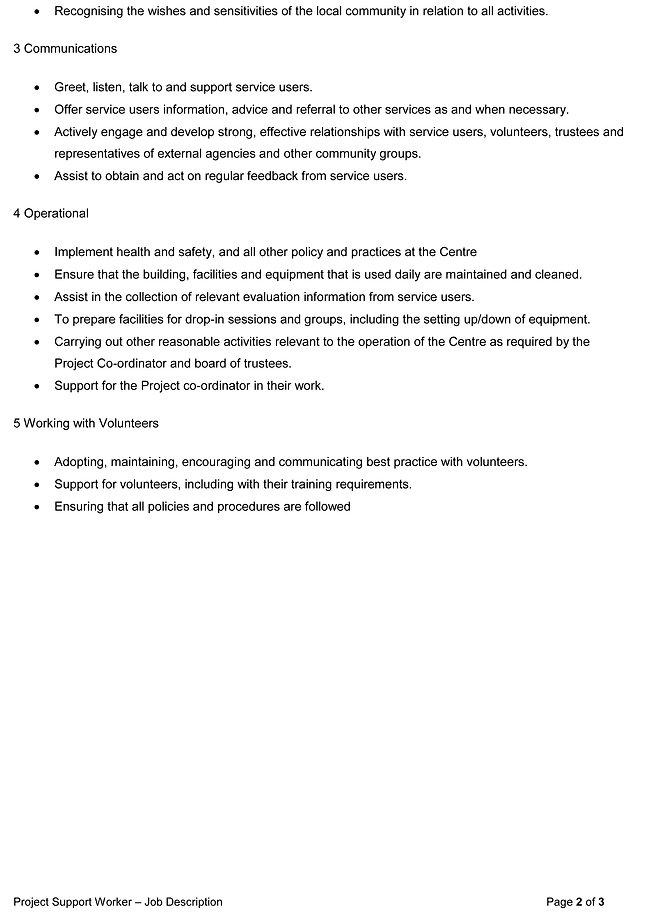 RC Project Worker- Job Description Jan 2
