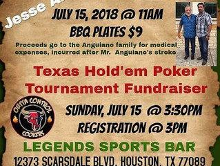 Outta Control Cookers July Poker Tournanment and Fundraiser.