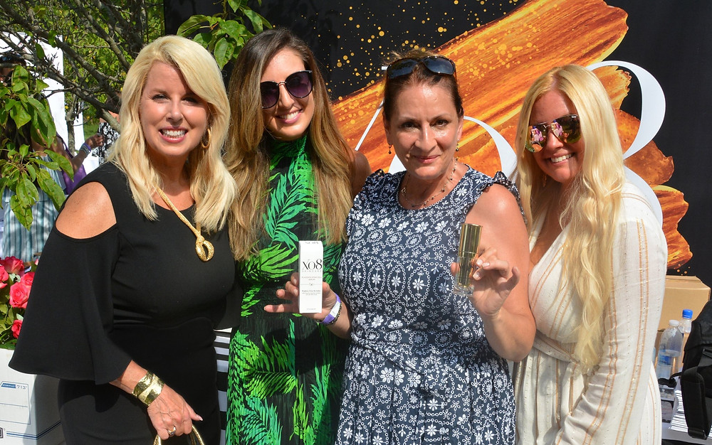 Rita Cosby, Lindsey Swing, Rose Laudisio, Lilly Robbins with XO8 Cosmeceuticals