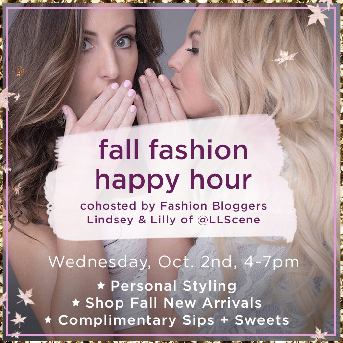 Fall Fashion Happy Hour at Lilac and Lilies Boutique