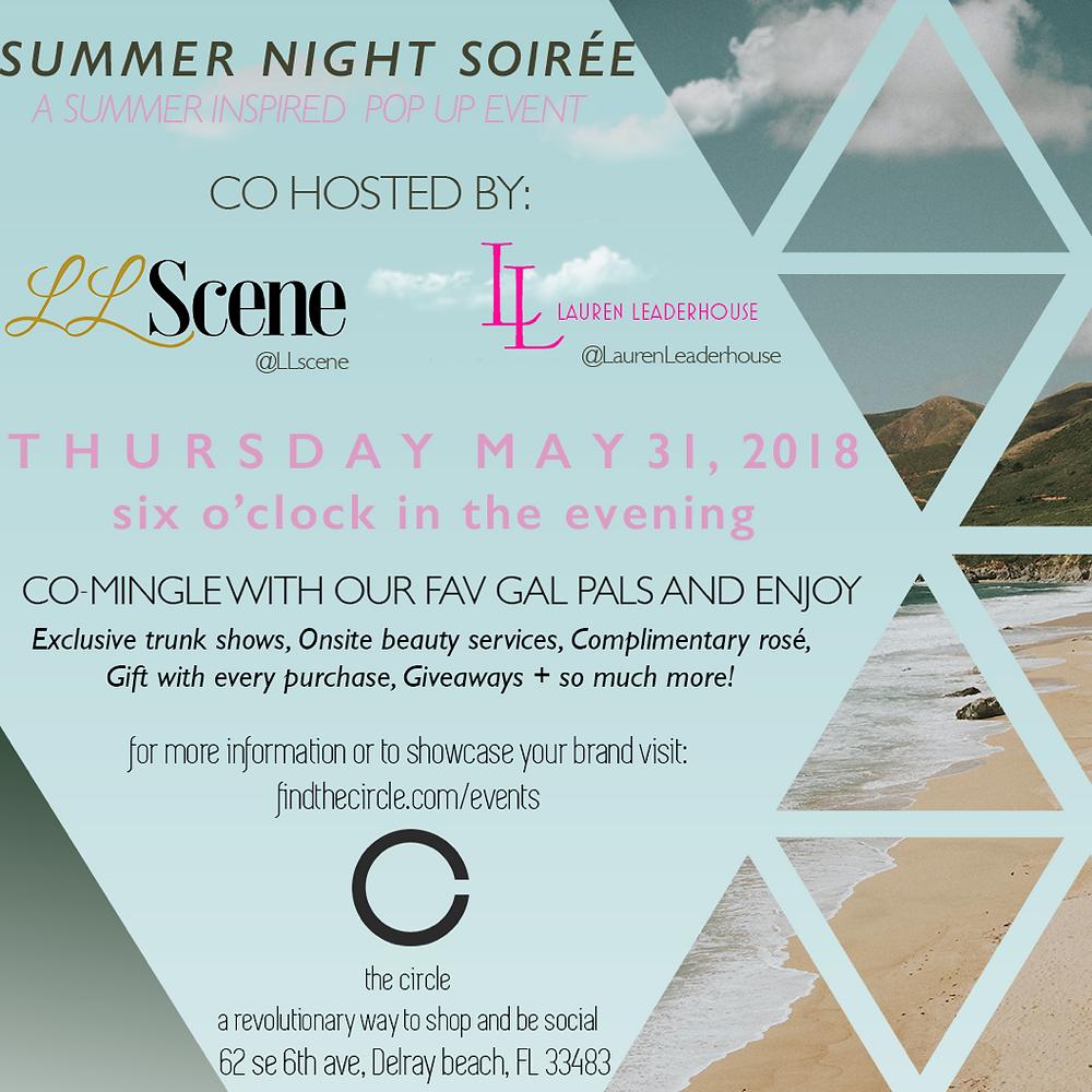 Summer Night Soiree at The Circle!