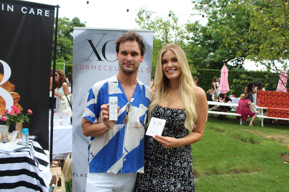 Bravo's Lauren Wirkus and Stephen McGee with XO8 Cosmeceuticals
