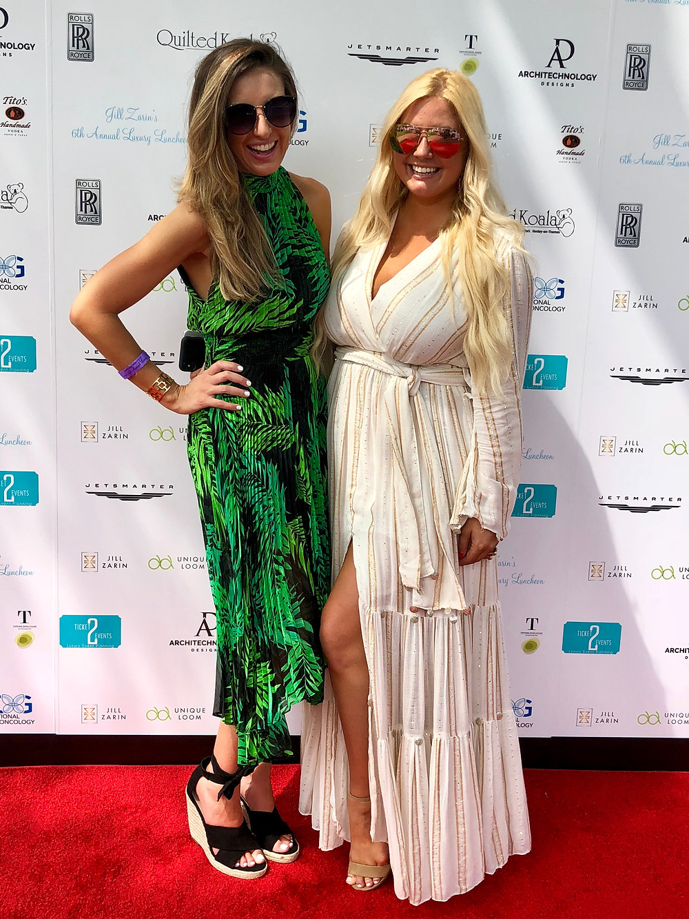 Co-Founders of LLScene Lindsey Swing & Lilly Robbins on the red carpet at Jill Zarin's 6th Annual Luxury Luncheon