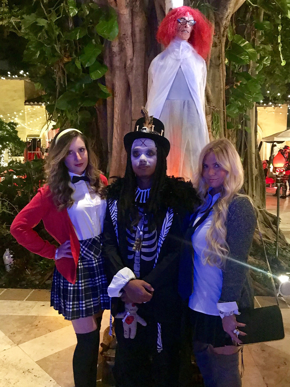 Lindsey Swing & Lilly Robbins at The Addison Halloween Party 2017