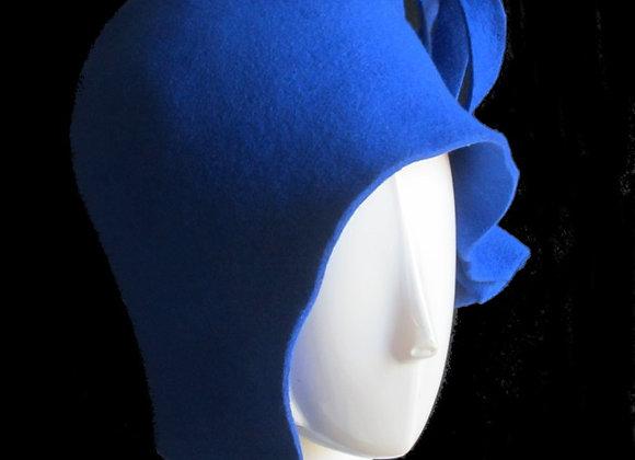 Royal Blue Winter Wool Felt Hat