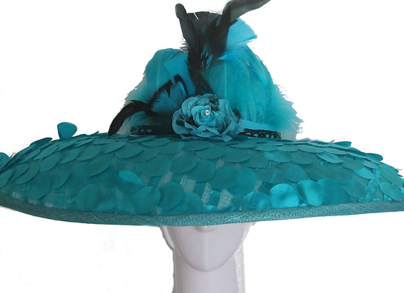Jessica (Turquoise Derby Hat)