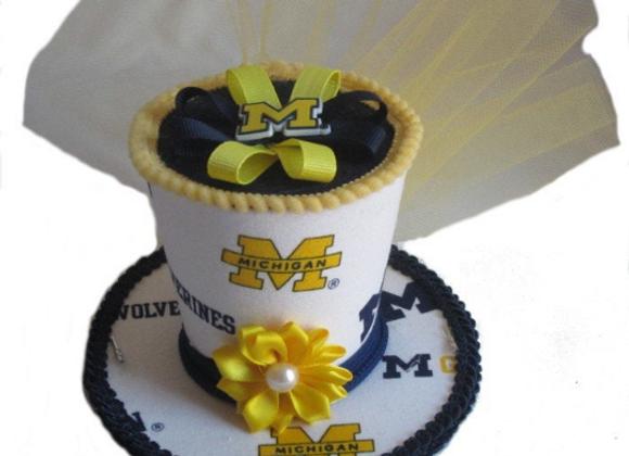 Michigan Wolverines Mini Top Hat