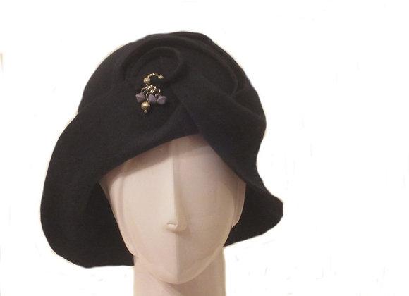 Navy Winter Wool Felt Hat