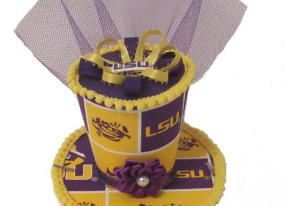 LSU Tiger Mini Top Hat