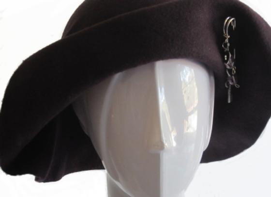 Purple Winter Wool Felt Hat
