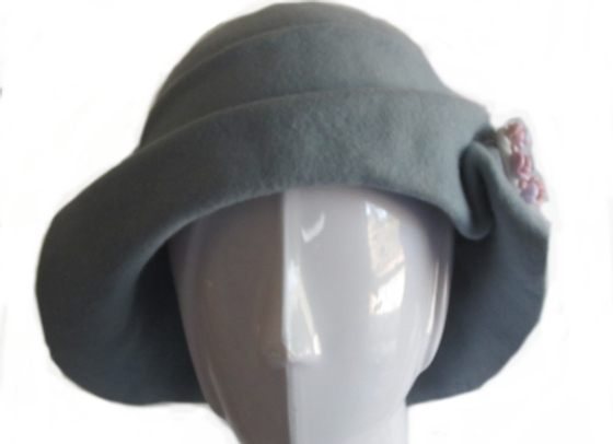 Light Blue Winter Wool Felt Hat