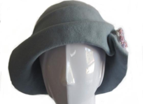 Light Blue Winter Wool Felt Hat