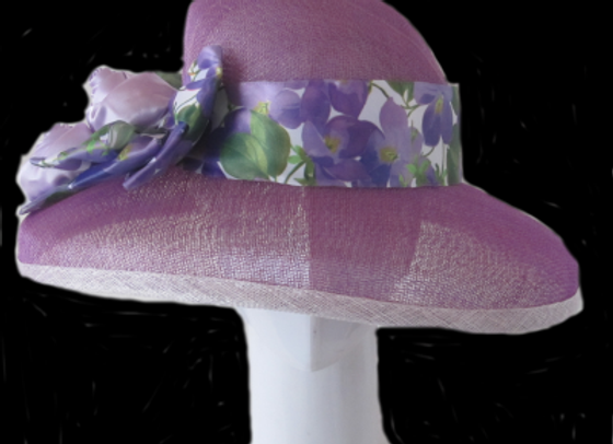 Susan (Purple Derby Hat)