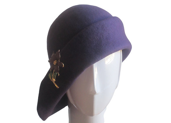 Purple Winter Wool Felt Hat