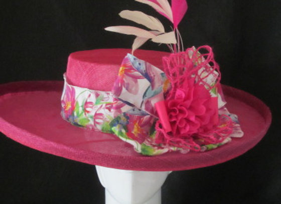 Hannah (Hot Pink Derby Hat)