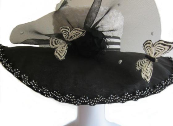 Alexa (Black and White Derby Hat)