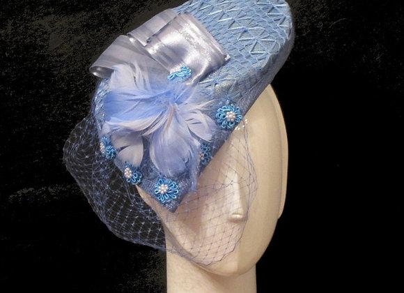 Martha (Blue Fascinator)